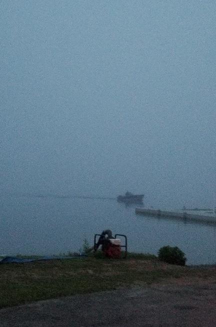 Fog over Rangeley Lake