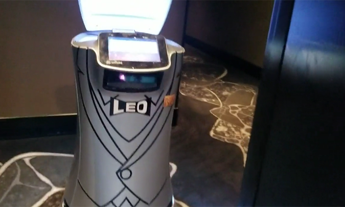 a robot that delivers amenities to your hotel room