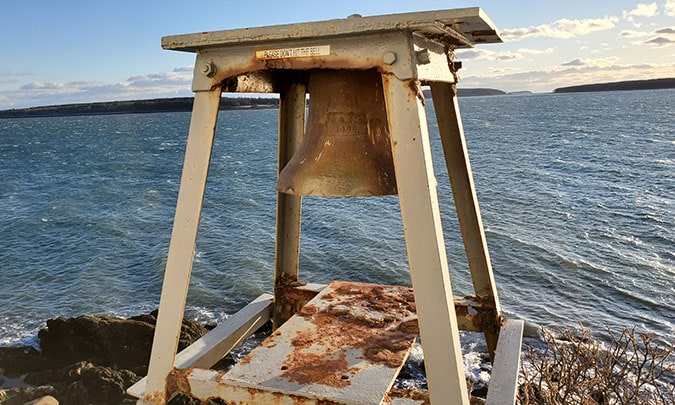 a bell at Bass Harbor Lighthouse Acadia National Park
