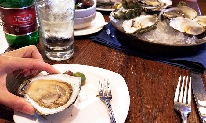 a fresh oyster