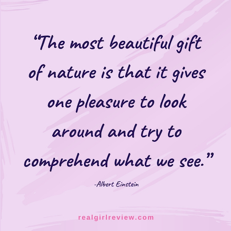 Image of Albert Einstein quote | the most beautiful gift of nature is that it gives one pleasure to look around and try to comprehend what we see