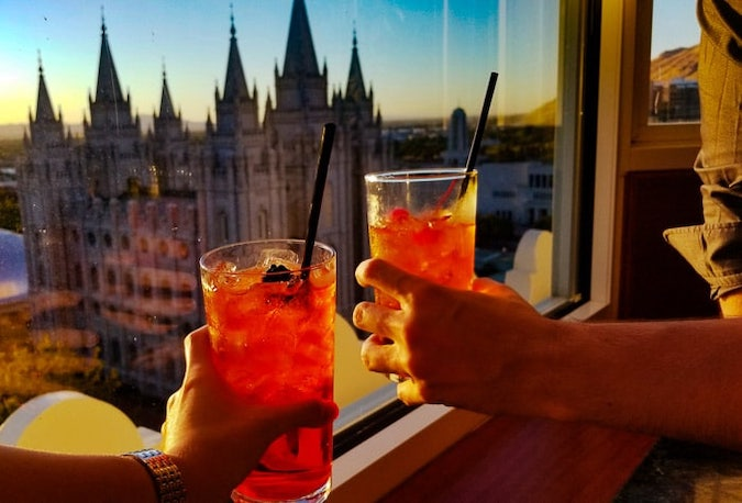 Sunset view and drinks